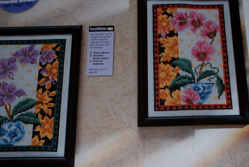 Exotic Oriental Orchids ~ Two Cross Stitch Charts