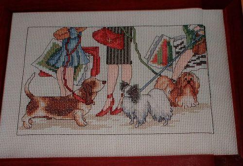 Walking the Dogs ~ Cross Stitch Chart
