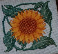 Sunflower Picture ~ Cross Stitch Chart