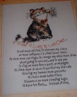 If I Had Nine Lives ~ Cross Stitch Chart