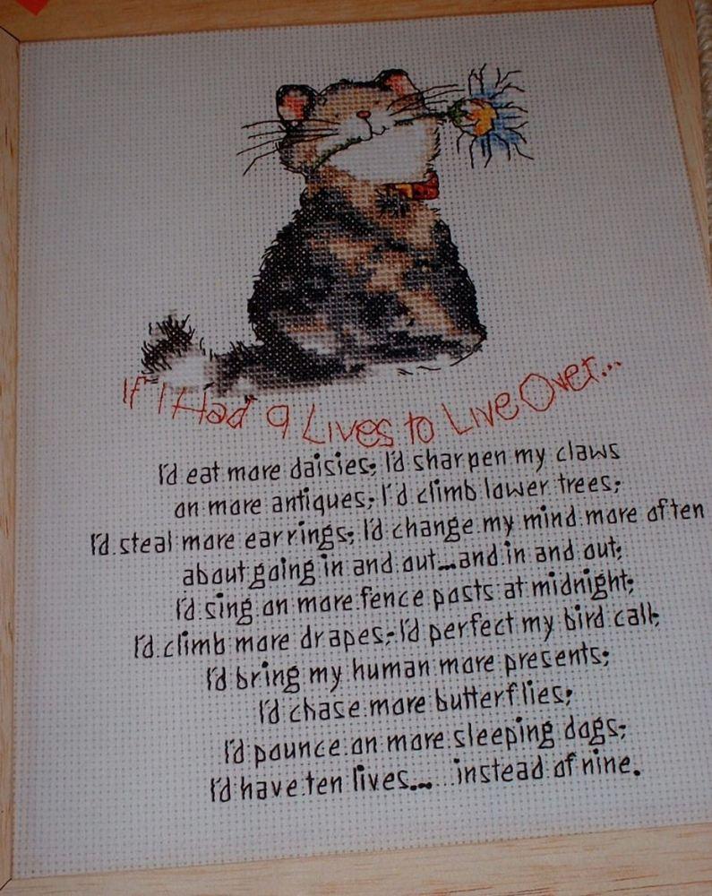 Margaret Sherry: If I Had Nine Lives ~ Cross Stitch Chart