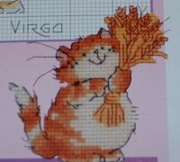 Virgo Cat Card ~ Cross Stitch Chart