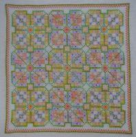 Summer Fresh Elizabethan Knot Garden ~ Hand Embroidery Pattern