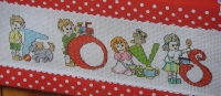 Boys & Girls Toys ABC Alphabet ~ 26 Cross Stitch Charts