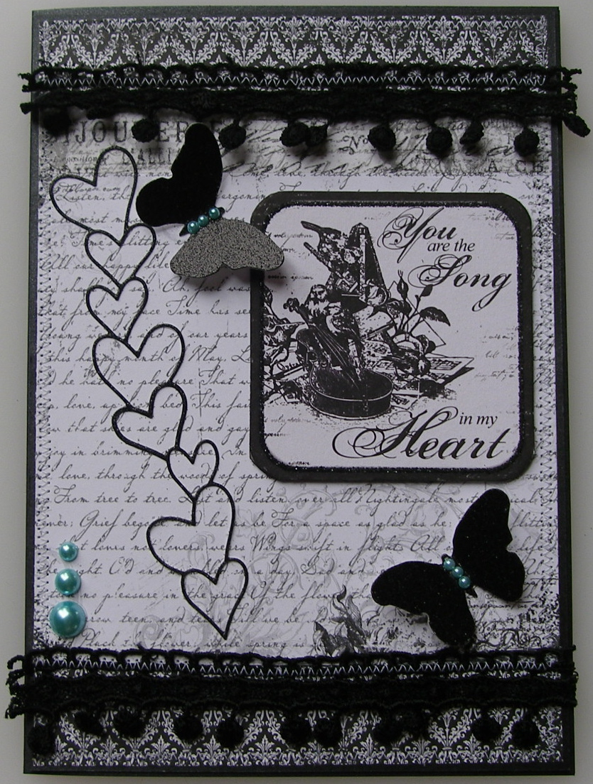 *you are the song in my heart* OOAK Handmade Luxury Boxed Card