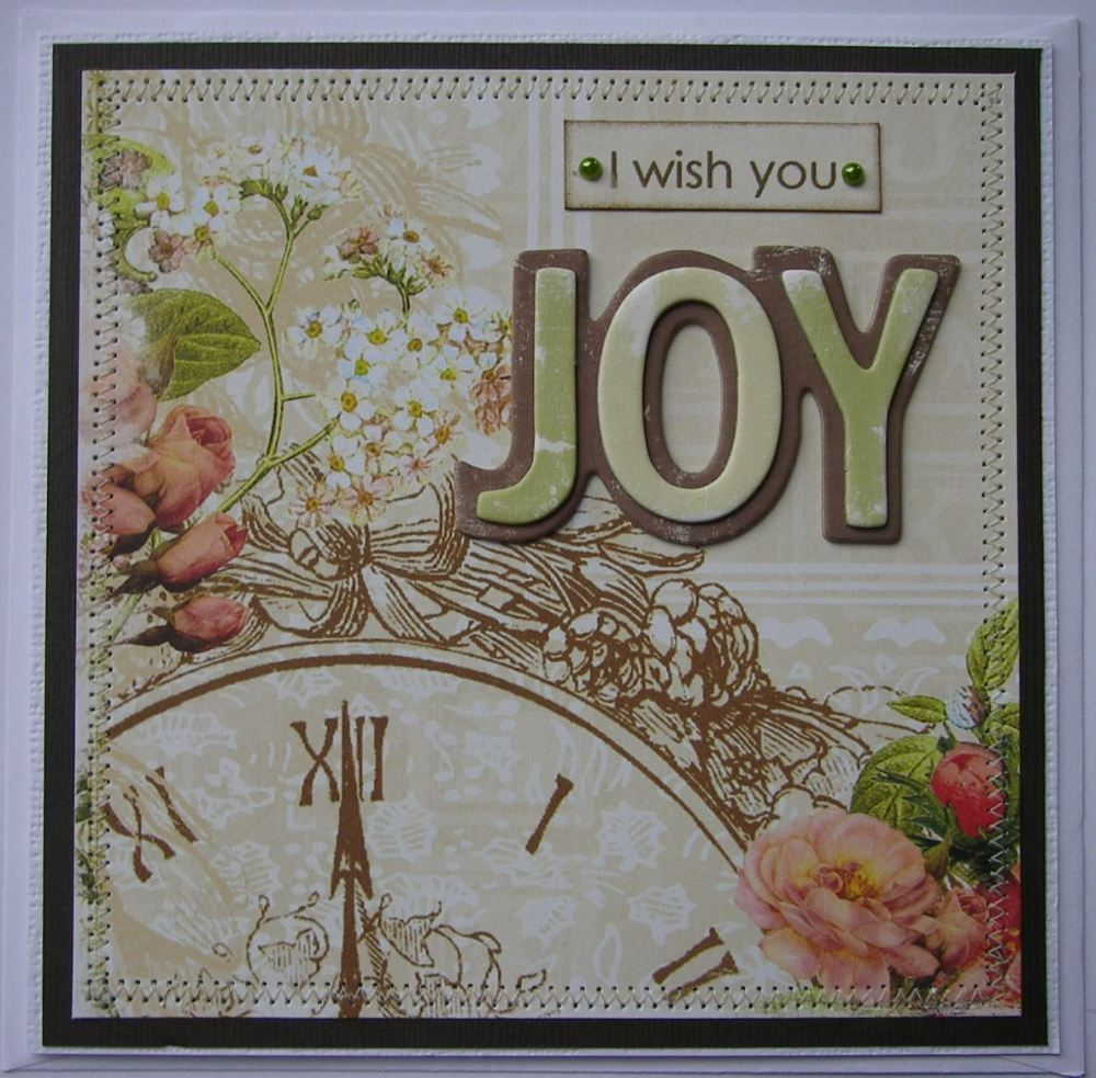 *I wish you joy* OOAK Handmade Birthday/ Feel Good Card