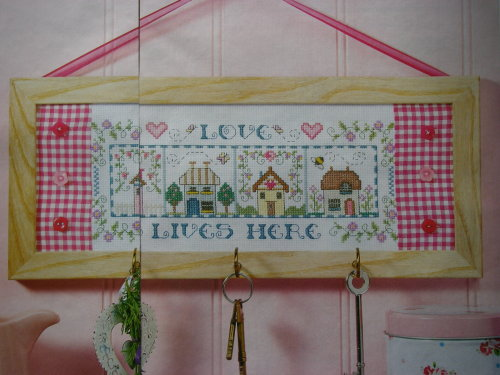 Love Lives Here Sampler ~ Cross Stitch Chart