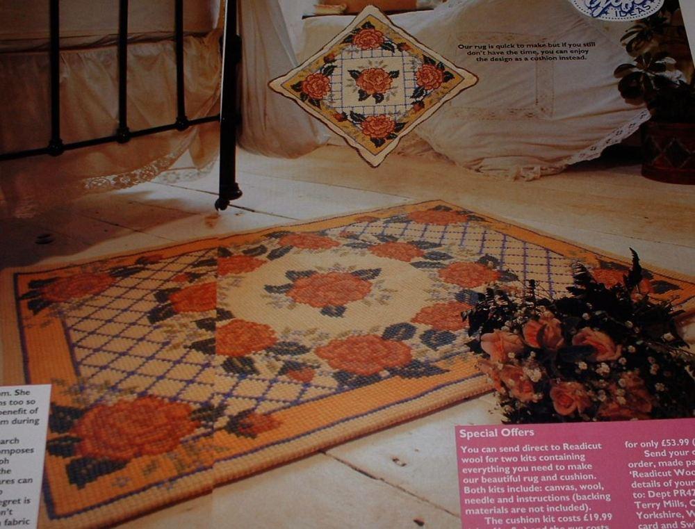 Roses Rug & Cushion ~ Needlepoint Pattern