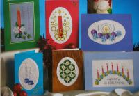 Six Candlelit Christmas Cards ~ Cross Stitch Charts
