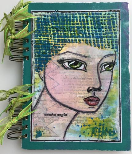 *create magic* Handmade Mixed Media Photo Memory Journal Album