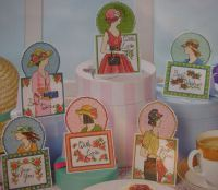 Hats & Handbags ~ Six Ladies Cross Stitch Cards Charts