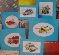 Transport of Rescue Heros Cards ~ Six Cross stitch Charts
