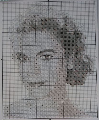 Hollywood Classic Actress: Grace Kelly ~ Cross Stitch Chart