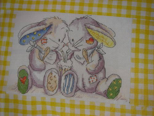 Somebunny To Love: Duo Drinking ~ Cross Stitch Chart