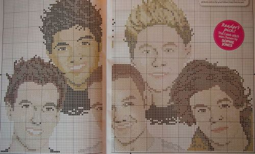 One Direction ~ Cross Stitch Chart