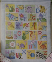 Baby's ABC Alphabet Sampler ~ Cross Stitch Chart