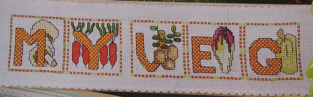 Vegetable ABC Alphabet ~ 26 Cross Stitch Charts
