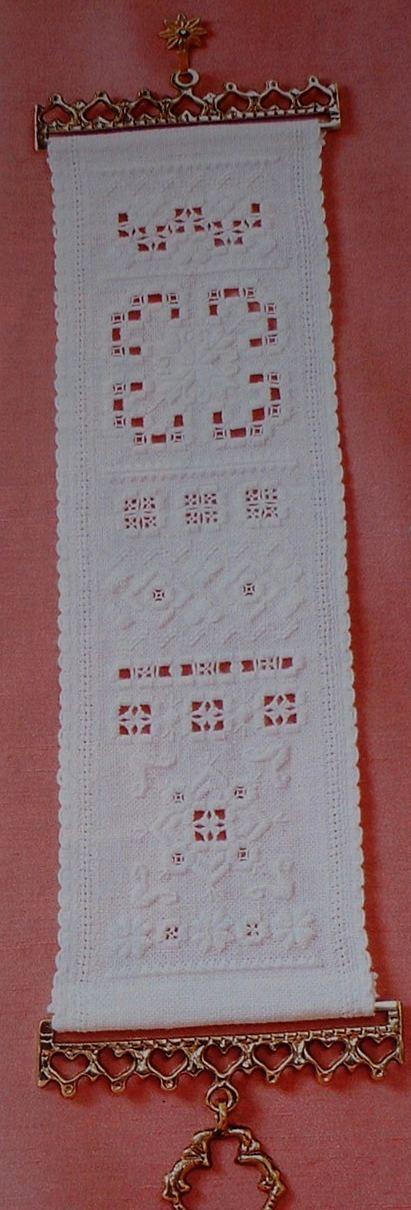 Hardanger Bellpull Sampler ~ Hardanger Pattern