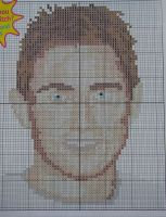 Chelsea Midfielder Footballer: Frank Lampard ~ Cross Stitch Chart