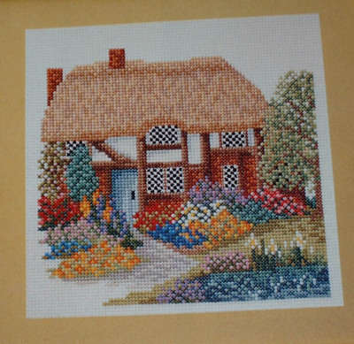 English Timbered Thatched Cottage ~ Cross Stitch Chart