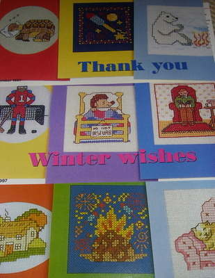 Twelve Winter Themed Cards ~ Cross Stitch Charts