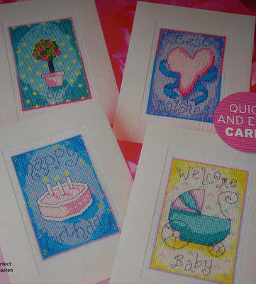 Get Well, Birthday, Baby Cards ~ Four Cross Stitch Charts
