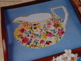 1930's Royal Grimswade Chintz China Jug ~ Cross Stitch Chart
