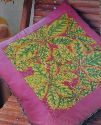 A Cushion of Leaves ~ Needlepoint Pattern
