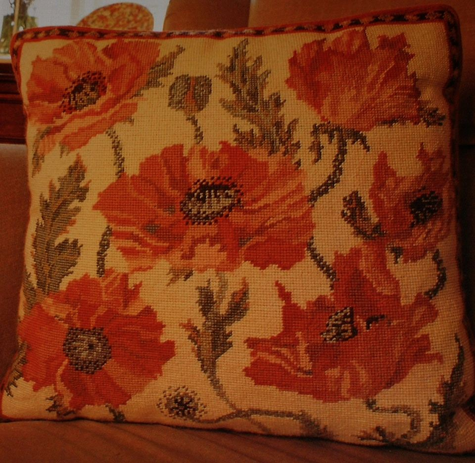Primavera Poppies Cushion ~ Needlepoint Chart