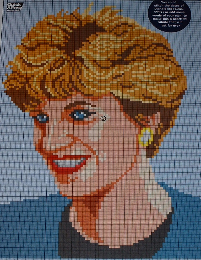 Diana Princess of Wales ~ Cross Stitch Chart