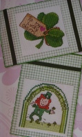 St Patrick's Day Cards ~ Two Cross Stitch Charts