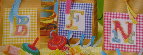 Colourful Circus Tent ABC Alphabet ~ 26 Cross Stitch Charts
