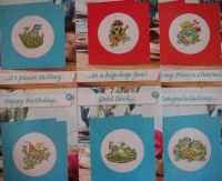 Seven Frog Cards ~ Cross Stitch Charts