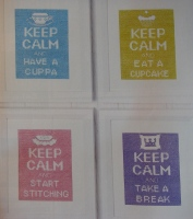 Keep Calm and ... ~ Four Cross Stitch Charts