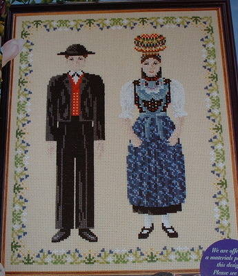 Black Forest Couple in Costume ~ Cross Stitch Chart