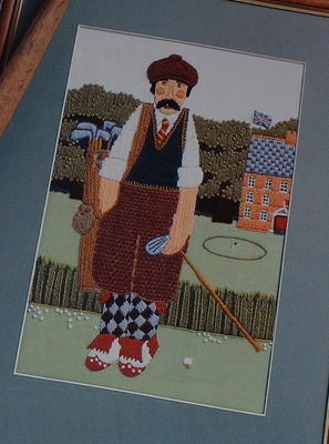 Bothy Threads ~ The Golfer: Crewelwork Pattern