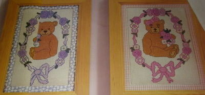 Boy & Girl Nursery Teddy bear Cross Stitch Charts
