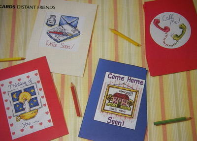 Cards for Distant Friends ~ 6 Cross Stitch Charts
