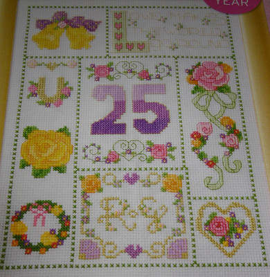 Classic Wedding Anniversary Sampler ~ Cross Stitch Chart