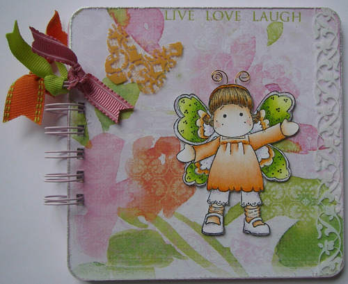 *live love laugh* full Handmade Garden Scrapbook Album