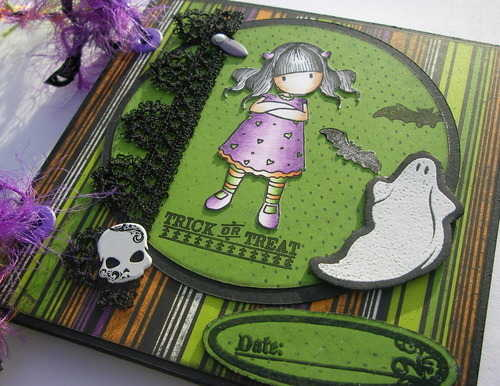 *trick or treat* slide Handmade Halloween Scrapbook Album