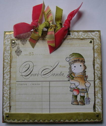 *dear santa* full handmade christmas wish list scrapbook album notebook
