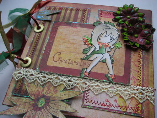 *christmas day fairy* 1 ooak handmade christmas scrapbook photo album