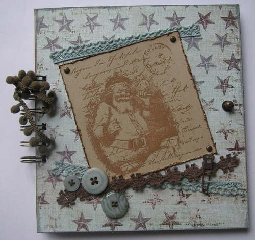 *vintage christmas* full handmade scrapbook album