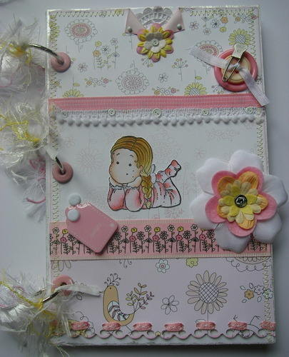*fragile delight* full handmade baby scrapbook photo album