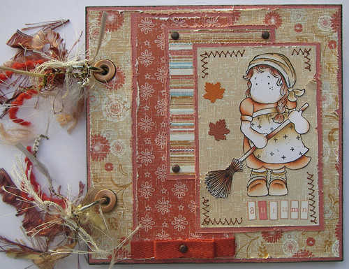 *autumn leaves* full ooak handmade garden scrapbook photo album