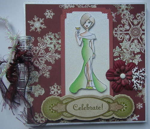 *celebrate* full handmade christmas winter birthday scrapbook photo album