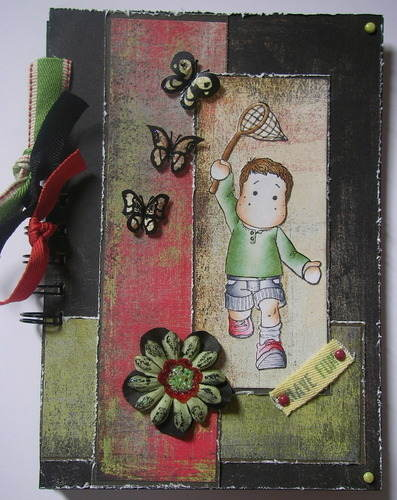 *chasing butterflies* boys summer scrapbook photo album
