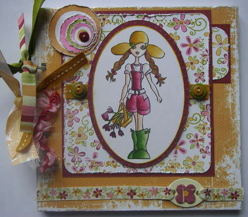 *lady gardener* full handmade scrapbook photo album