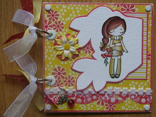 *picking flowers* full handmade scrapbook photo album
